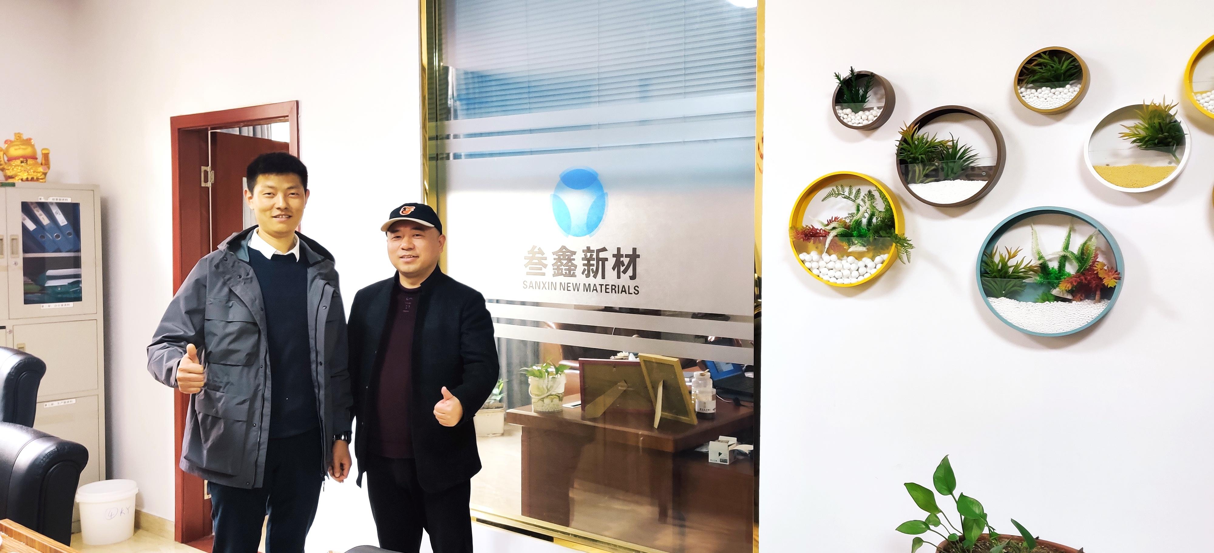 近日,磨库广东分公司的负责人杨阳来到了江西省叁鑫新材料有限公司