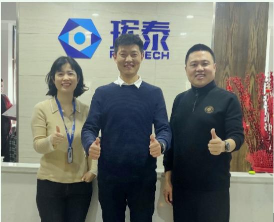 2月22日,磨库广东分公司的负责人杨阳受邀来到了长沙珲泰陶瓷科技有限公司