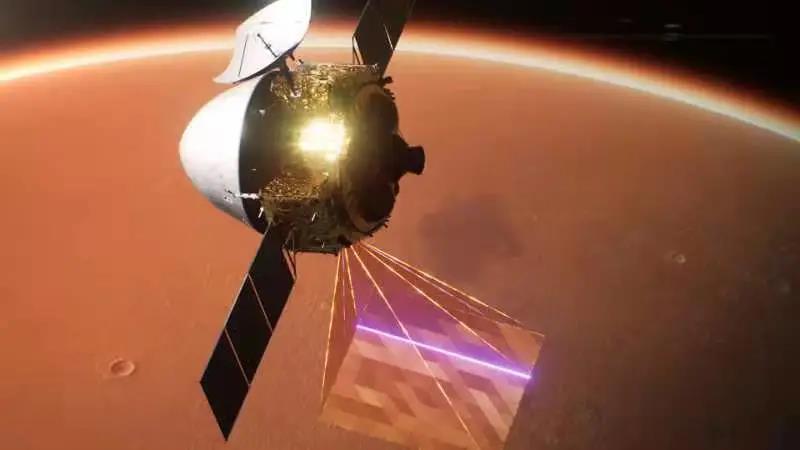 2021年2月24日6时29分,首次火星探测任务天问一号探测器成功实施第三次近火制动,进入近火点280千米、远火点5.9万千米
